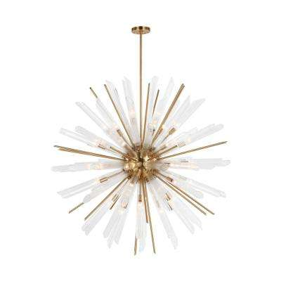 Quorra 41-Light Burnished Brass Chandelier