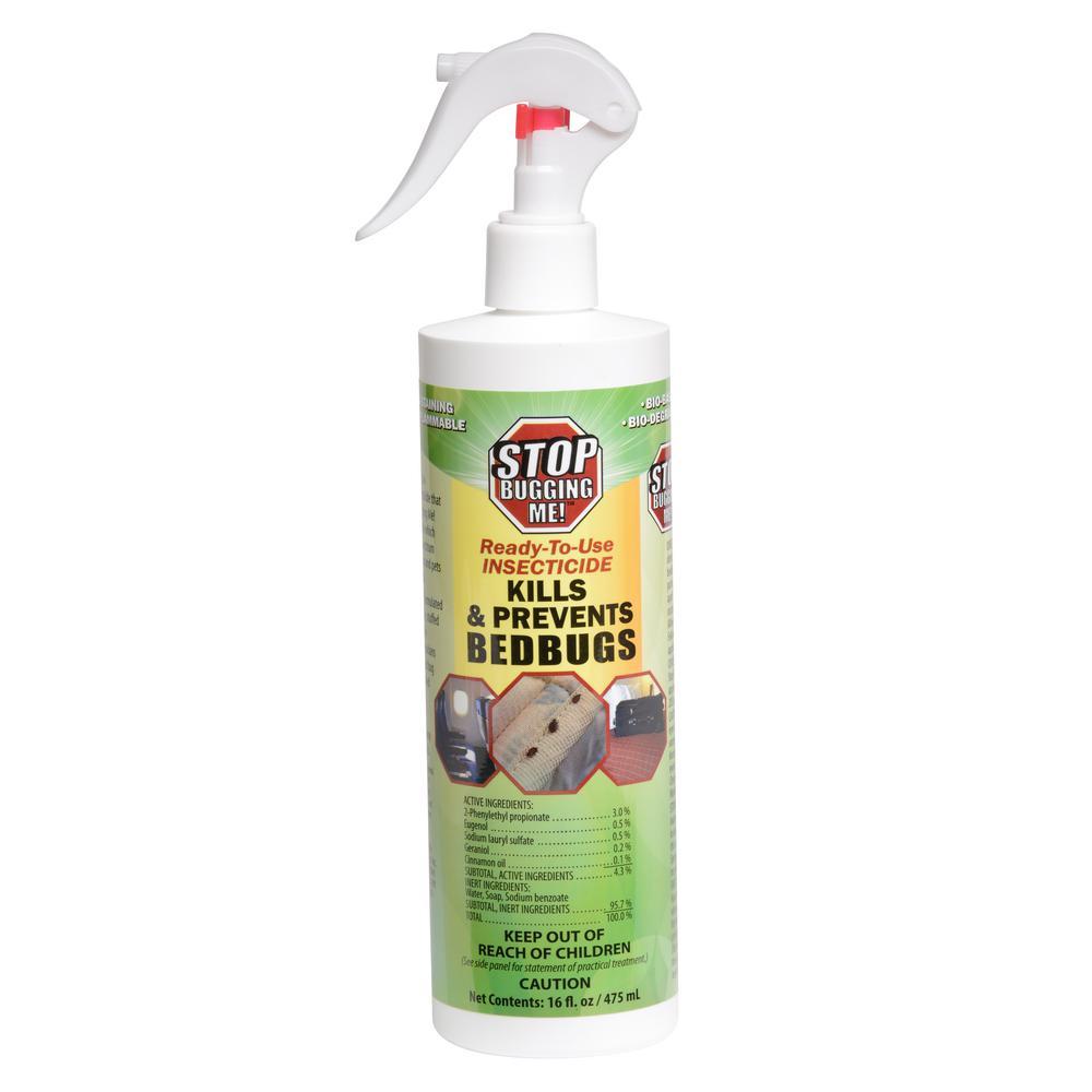 Bed Bug Spray Home Depot >> Stop Bugging Me 16 oz. Stop Bugging Me Bed Bug Spray-100528640 - The Home Depot