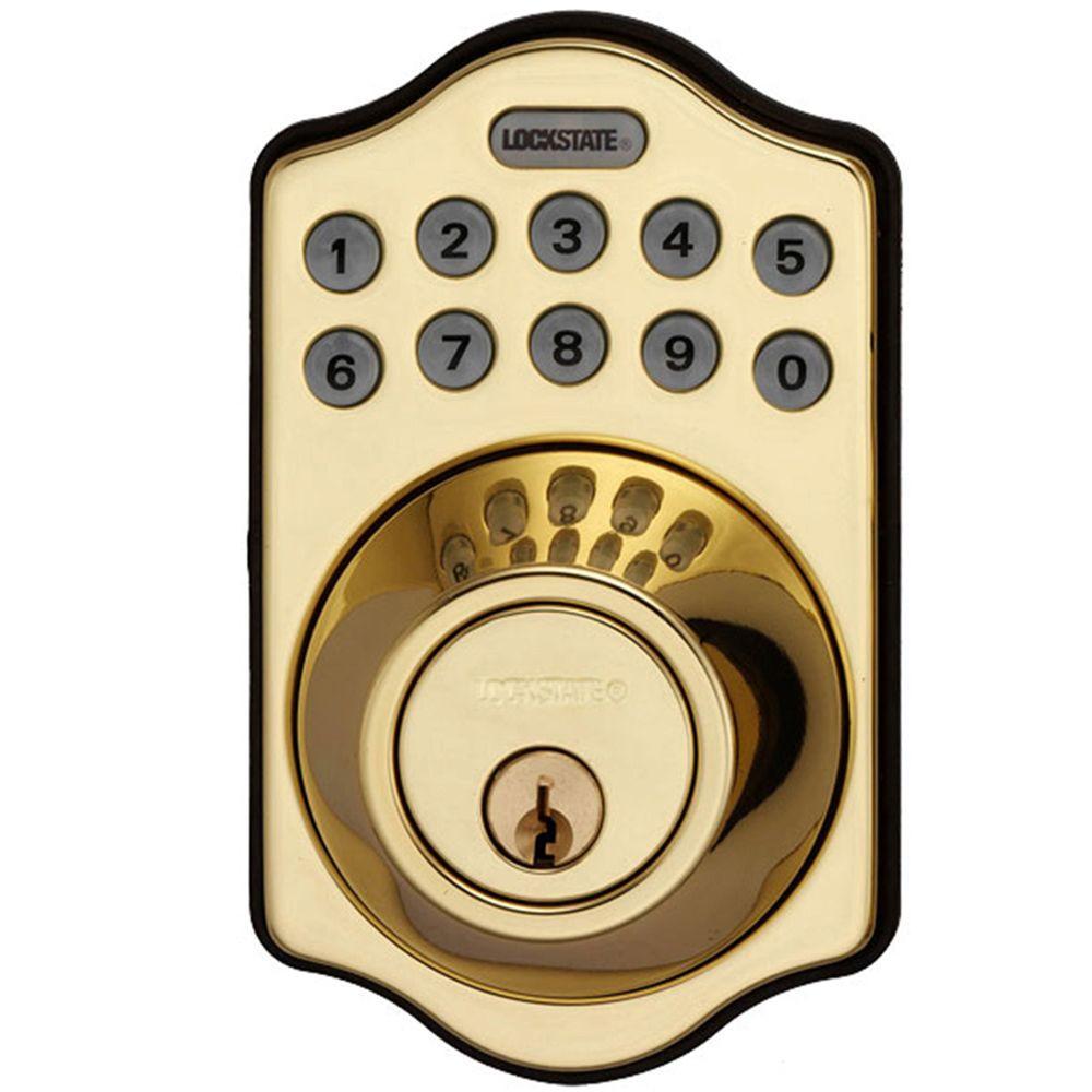 LockState RemoteLock WiFi Electronic Single Cylinder Polished Brass Deadbolt Door Lock