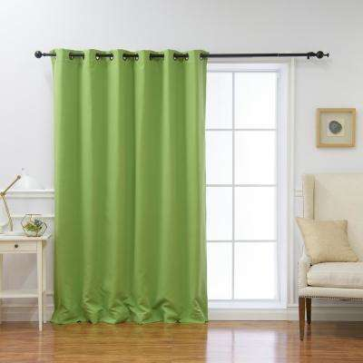 Wide Basic 80 in. W x 96 in. L Blackout Curtain in Green
