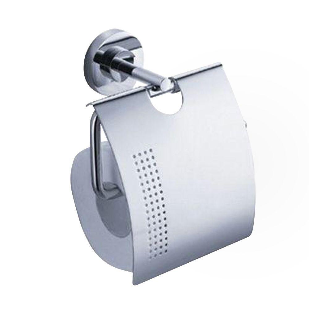 Fresca Alzato Single Post Toilet Paper Holder in Chrome