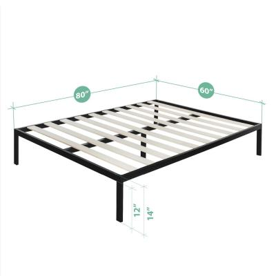Mia Modern Studio 14 Inch Platform 1500 Metal Bed Frame, Mattress Foundation, Queen