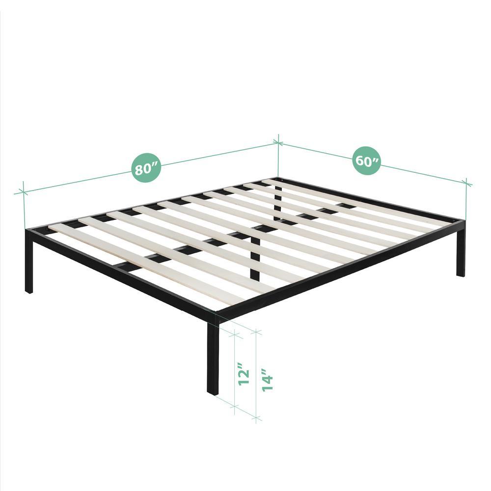 Rest Rite 14 In Queen Metal Platform Bed Frame
