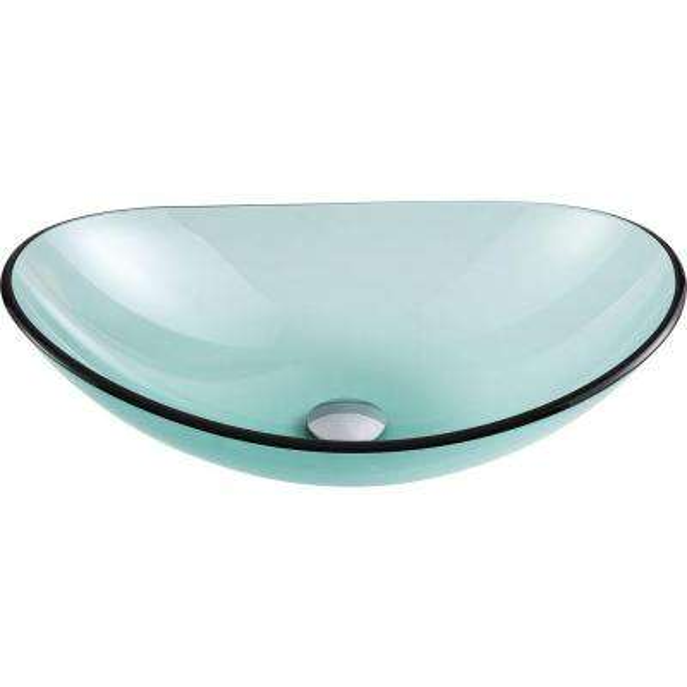 Major Series Deco-Glass Vessel Sink in Lustrous Green