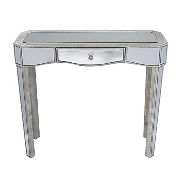 Homeroots Shelly 31 In Antique White Solid Wood Console Table 294690 The Home Depot