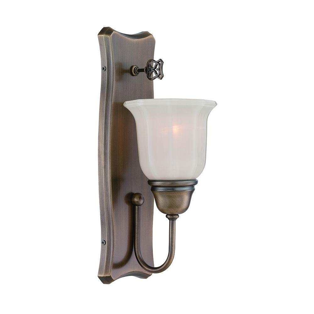 Astor 1-Light Old Satin Brass Wall Sconce