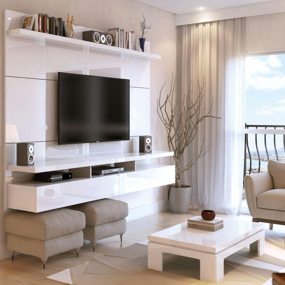 Internet 207161900 Manhattan Comfort City White Gloss Entertainment Center