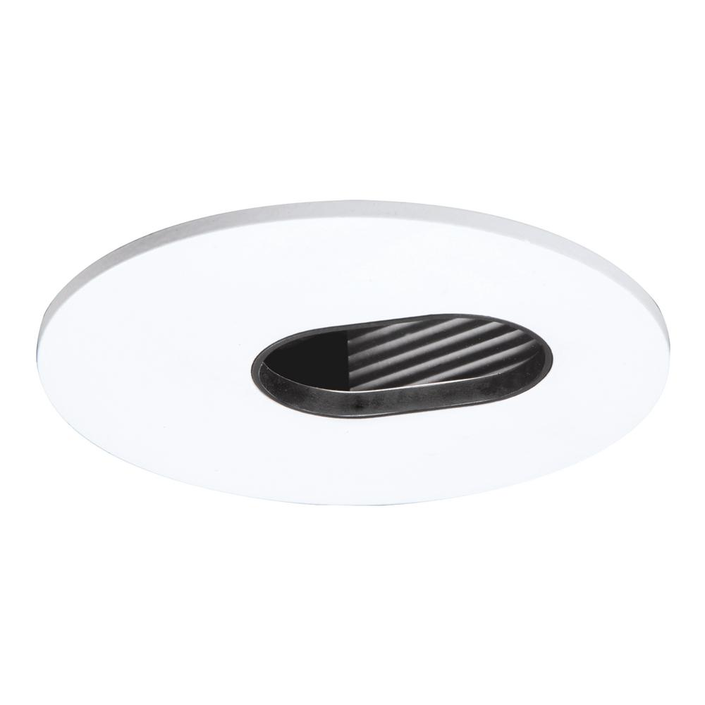 halo 3006 series 3 in adjustabe slot white recessed trim with black