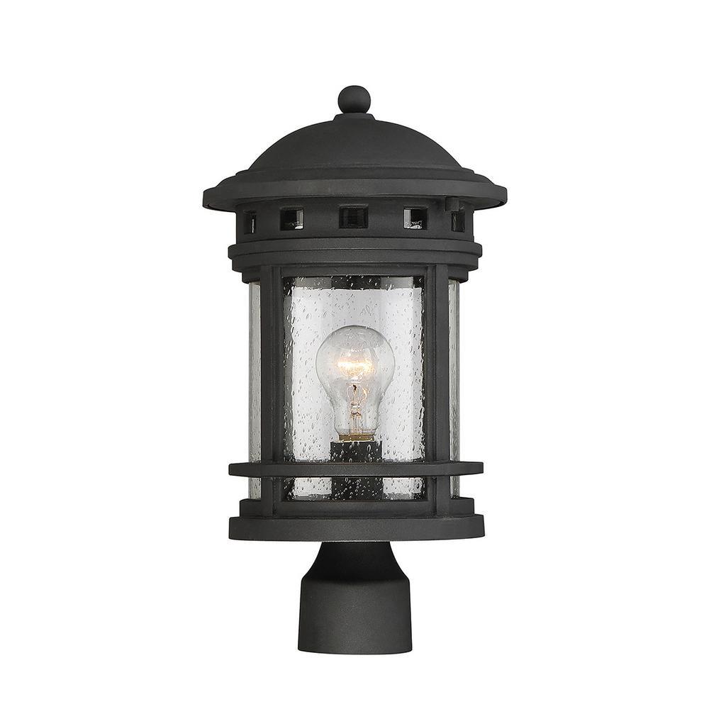 1-Light Outdoor Black Post Light