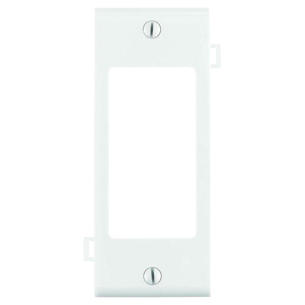 Leviton Sectional 1-Gang Center Decora Nylon Wall Plate, White