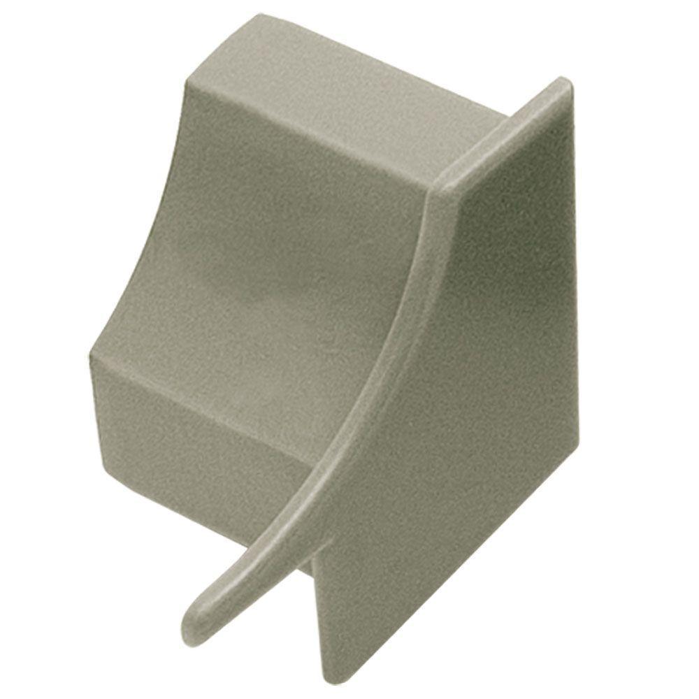 Dilex-HK Grey 1 in. x 1 in. PVC Right End Cap