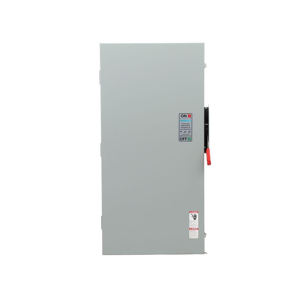 Eaton 200 Amp Double Pole Fusible NEMA 3R General Duty Safety Switch ...