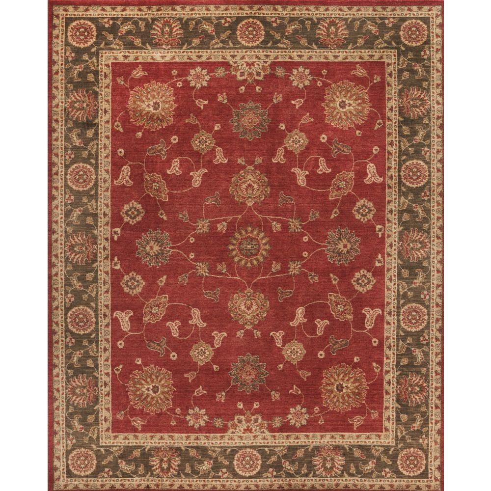 Home Decorators Collection Casa Red 5 Ft. X 7 Ft. Indoor
