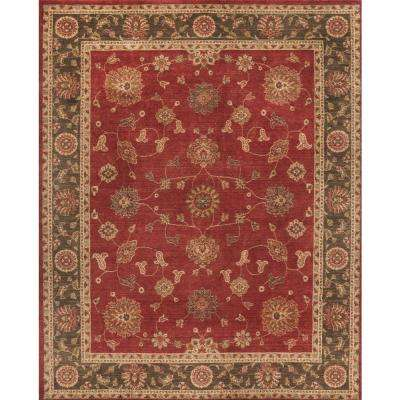Casa Red 5 ft. x 7 ft. Indoor Area Rug