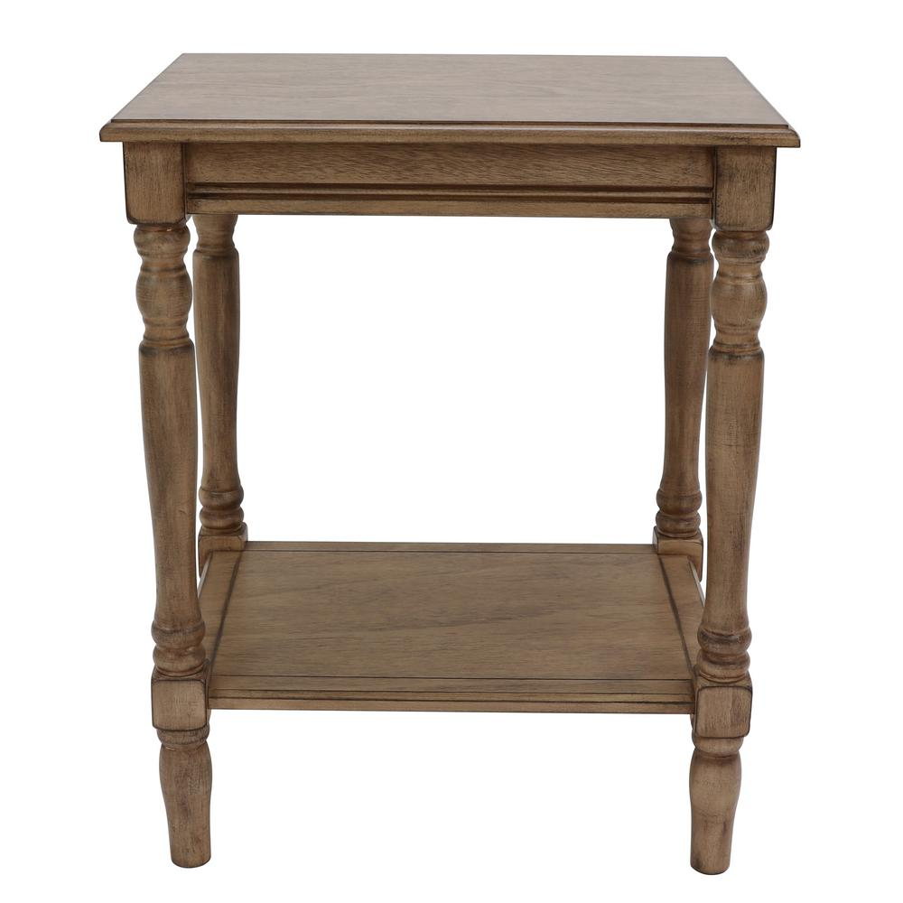 Decor Therapy Simplify Oak End Table Fr8711 The Home Depot
