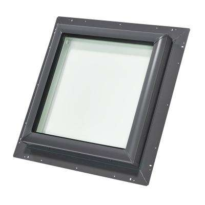 46-1/2 in. x 46-1/2 in. Fixed Pan-Flashed Skylight with Laminated Low-E3 Glass