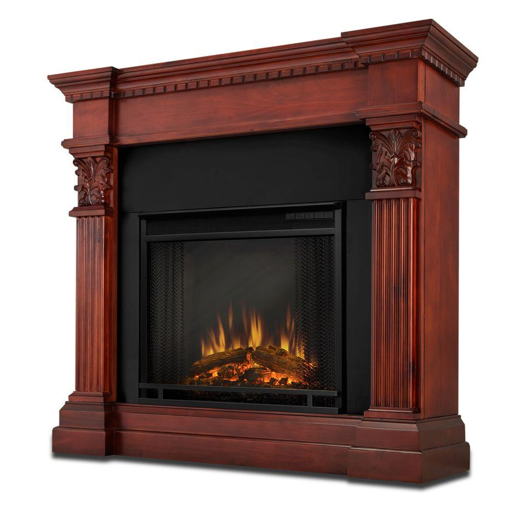 Real Flame Gabrielle 42 in. Electric Fireplace in Dark Mahogany-DISCONTINUED