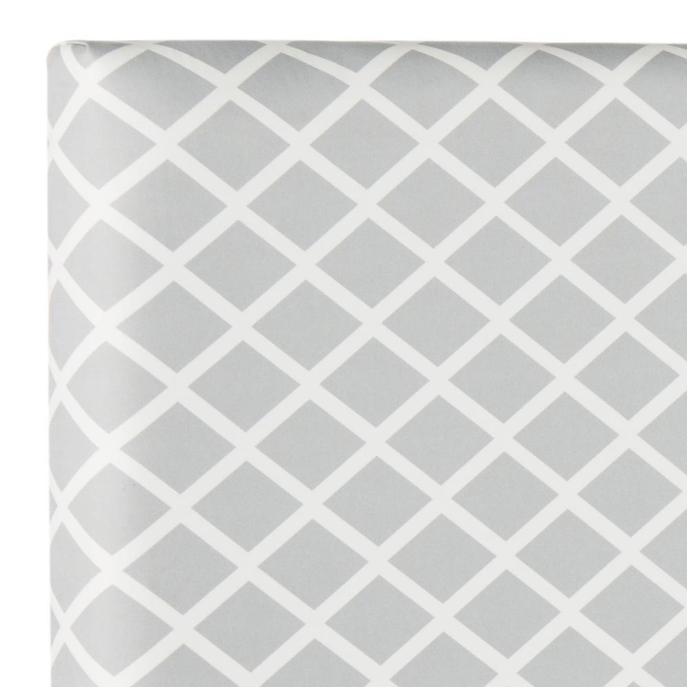 Sydney Grey/White Lattice Full Headboard