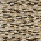 Luxor Valley Brick 12 in. x 12 in. x 8 mm Glass Stone Mesh-Mounted Mosaic Tile (10 sq. ft./case)