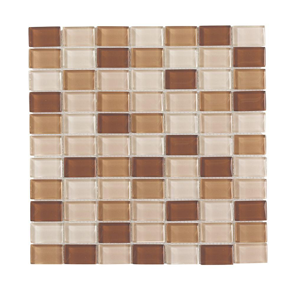 Jeffrey Court 12 in. x 12 in. Urban Sunrise Glass Moasic Wall Tile (10sq.ft/cs)-DISCONTINUED