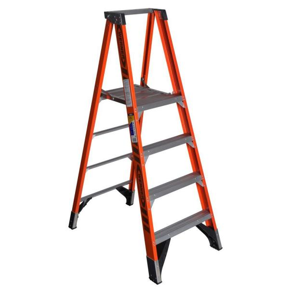 4 ft. Fiberglass Platform Step Ladder with 375 lb. Load Capacity Type IAA Duty Rating