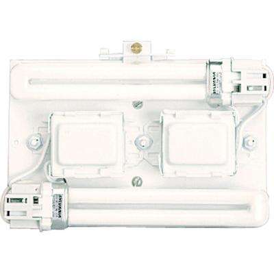 Wall Pocket 2-Light White Light Fixture