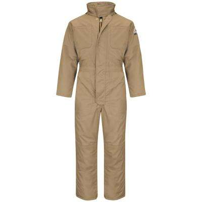 EXCEL FR ComforTouch Men's Small Khaki Premium Insulated Coverall