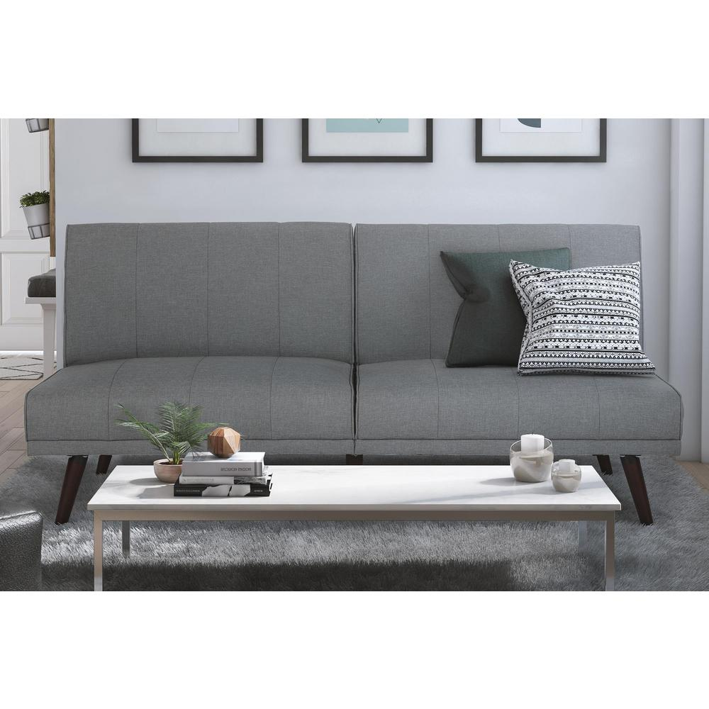 lone pine gray futon classic   futons  u0026 sofa beds   living room furniture   the home depot  rh   homedepot