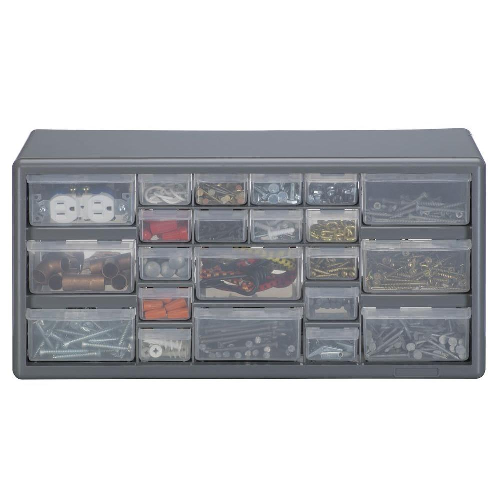 stack on 22 compartments small parts organizer storage cabinet ds 22 rh homedepot com stack-on 22 drawer storage cabinet ds-22 stack-on ds-39 39 drawer storage cabinet