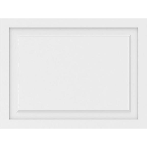 Ekena Millwork 5/8 in. x 2-2/3 ft. x 2 ft. Harrison Raised Panel White PVC Decorative Wall Panel