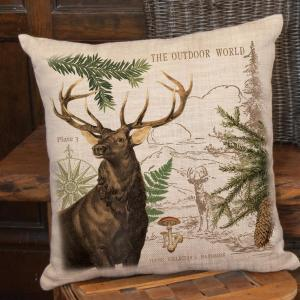 Lodge Hollow Natural Plaid 18 in x 18 in Throw Pillow Cover