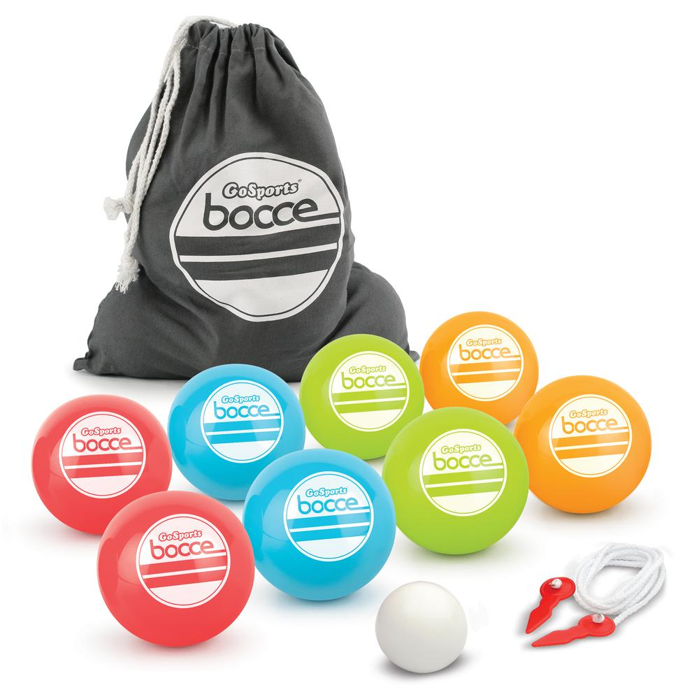 aef36c62fc8 Soft Bocce Set Includes 8 Weighted Balls Pallino and Case Play Indoors or  Outdoors