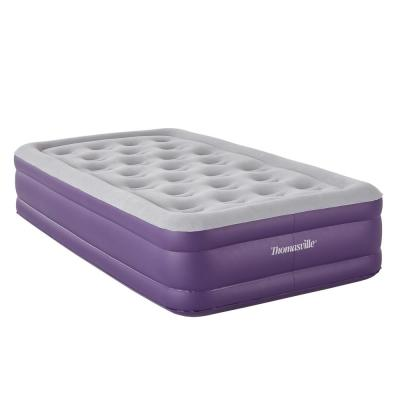 Sensation 15 Twin Raised Adjule Comfort Air Bed Mattress With Express Pump