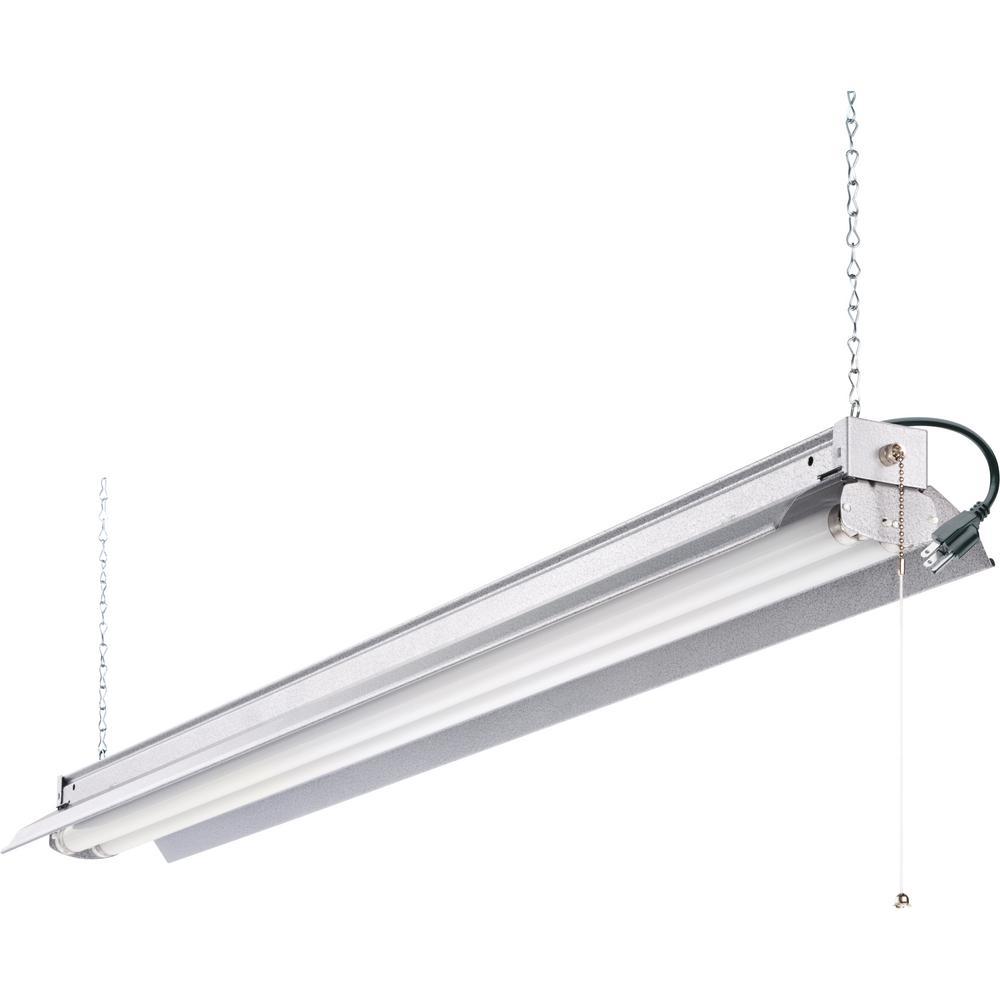 All Season 4 ft. 2-Light Grey T8 Strip Fluorescent Shop Light