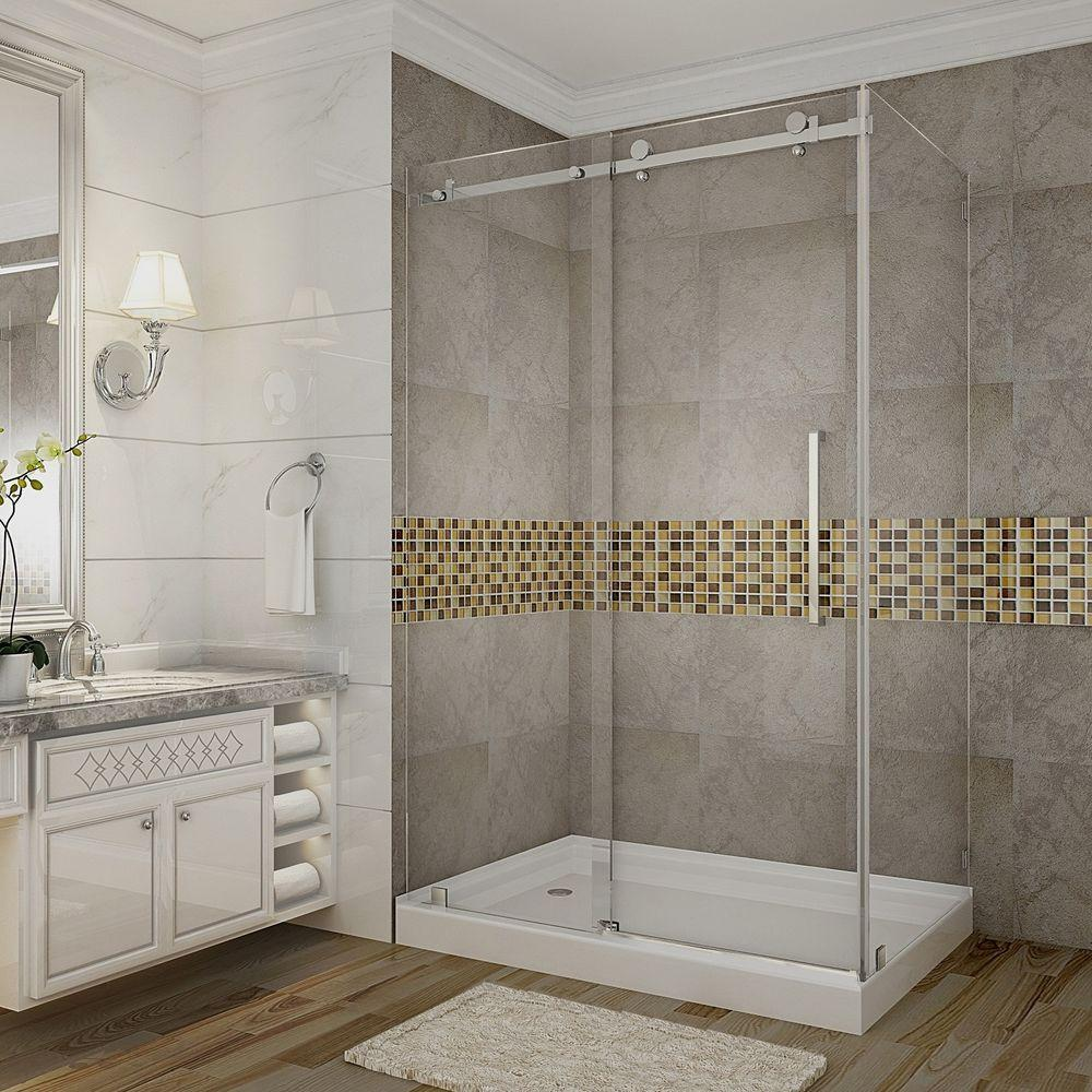 Aston Moselle 48 in. x 35 in. x 77-1/2 in. Completely Frameless ...