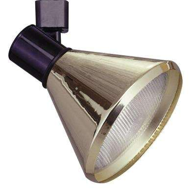 1-Light Nickel Track Light Satin