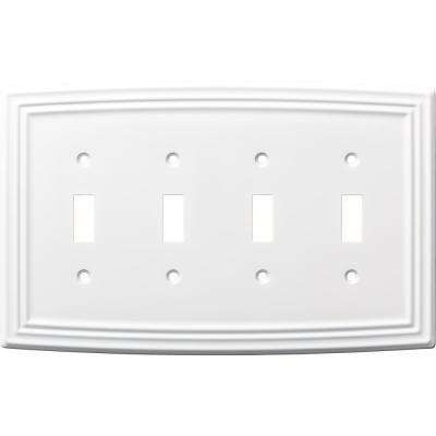 Classical 4-Gang Switch, Pure White