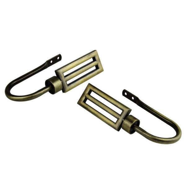 Sterling Decorative Holdback Pair in Antique Brass