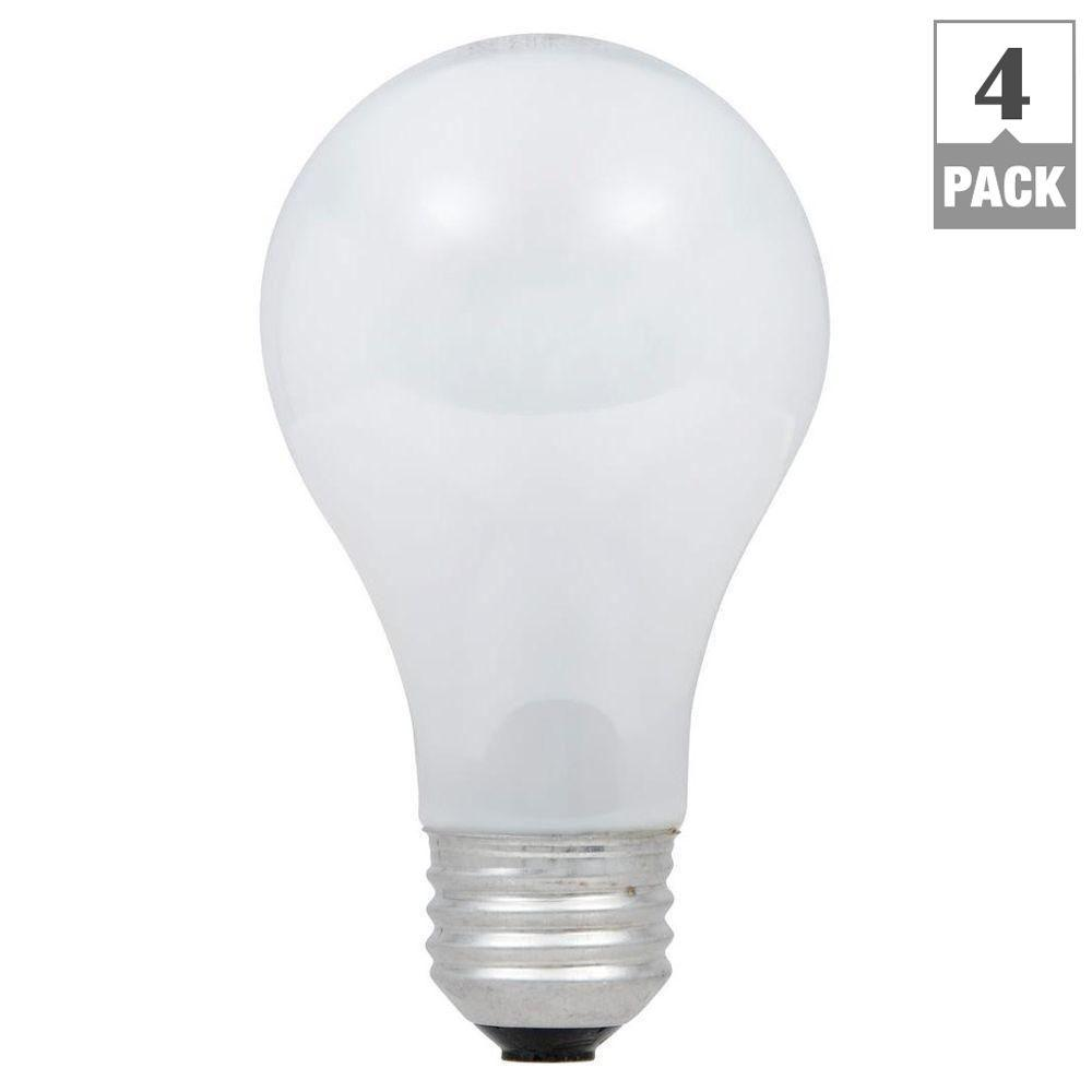 75-Watt Equivalent A19 Dimmable Eco-Incandescent Light Bulb Soft White (4-Pack)