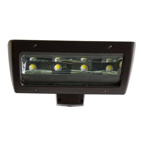 High-Output 450-Watt Equivalent Integrated Outdoor LED Wall Pack, 7000 Lumens, Dusk to Dawn Outdoor Security Light