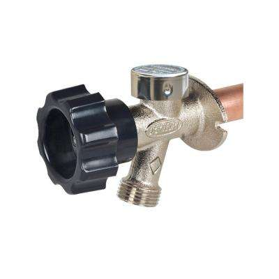 1/2 in. x 12 in. Brass MPT x S Half-Turn Frost Free Anti-Siphon Outdoor Faucet Sillcock