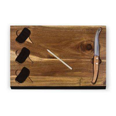 Delio Acacia Wood Cheese Board with Tools