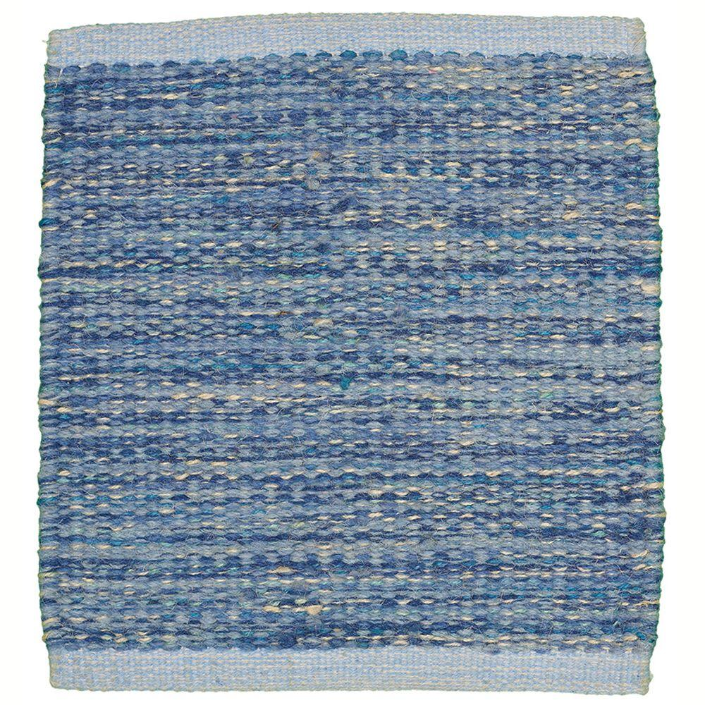 LR Resources Tribeca Blue 5 ft. x 7 ft. 9 in. Reversible Wool Dhurry Indoor Area Rug-DISCONTINUED