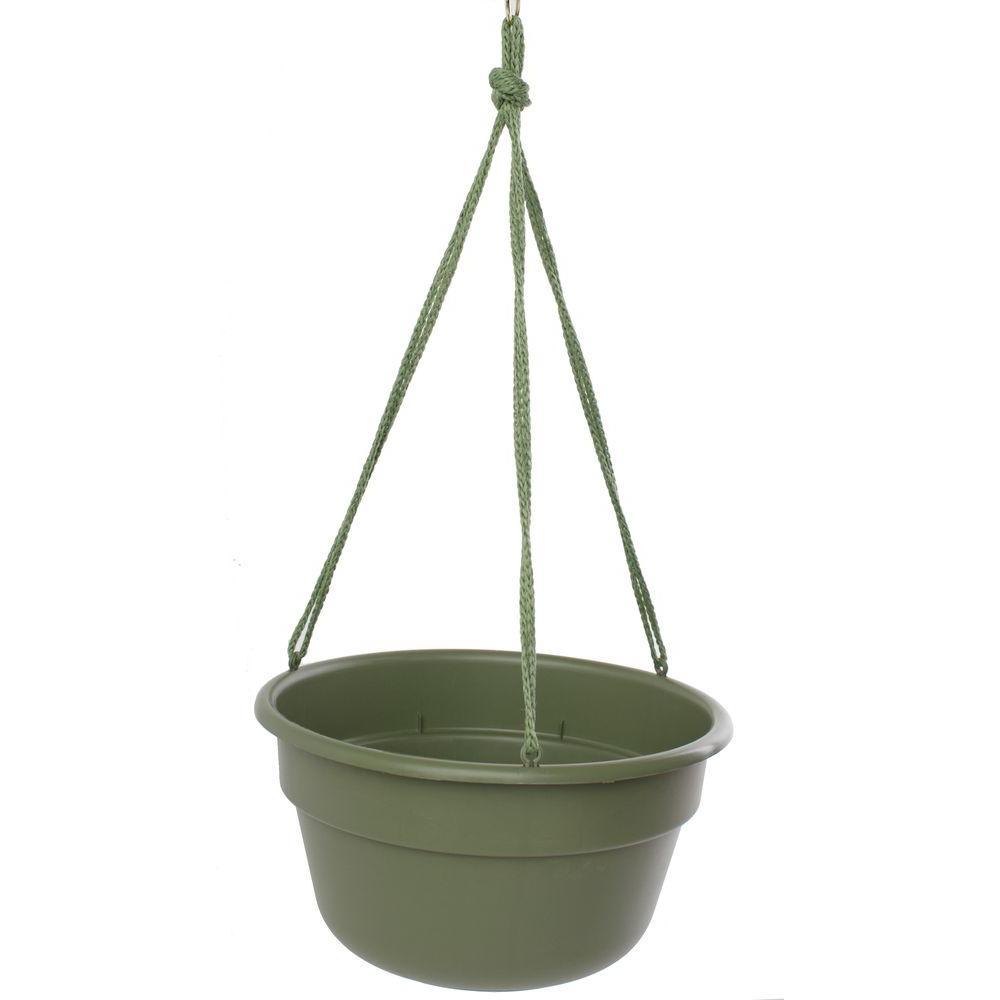 10 in. Living Green Dura Cotta Plastic Hanging Basket