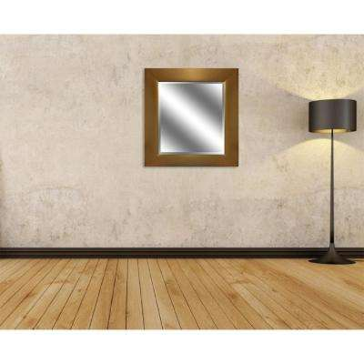 Reflection 27 in. x 23 in. Bevel Style Framed Mirror in Gold Finish