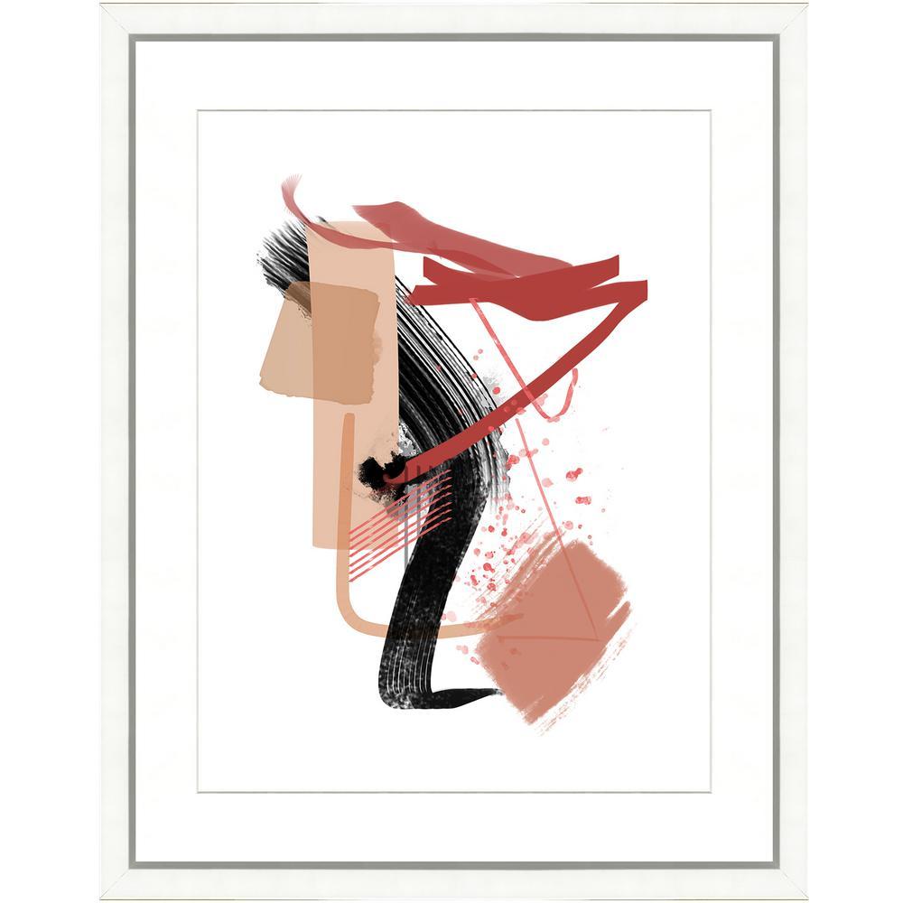 """20 in. x 24 in. """"Modern Pink II"""" Framed Archival Paper Wall Art"""