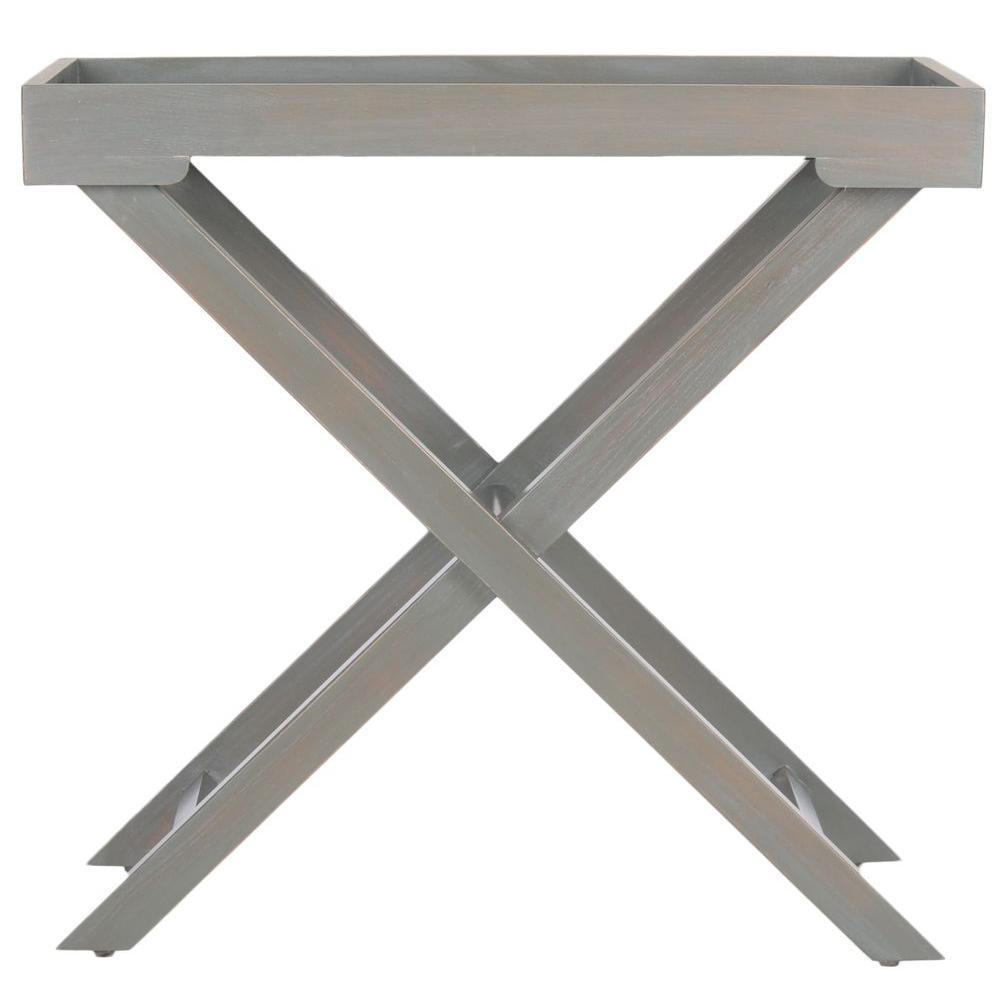 Safavieh Leo French Grey Tray Side Table
