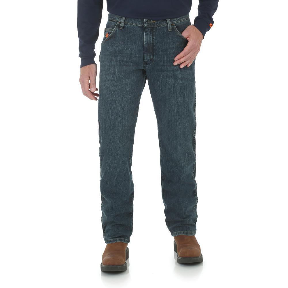 Men's Size 35 in. x 34 in. Dark Tint Regular Fit Advanced Comfort Jean