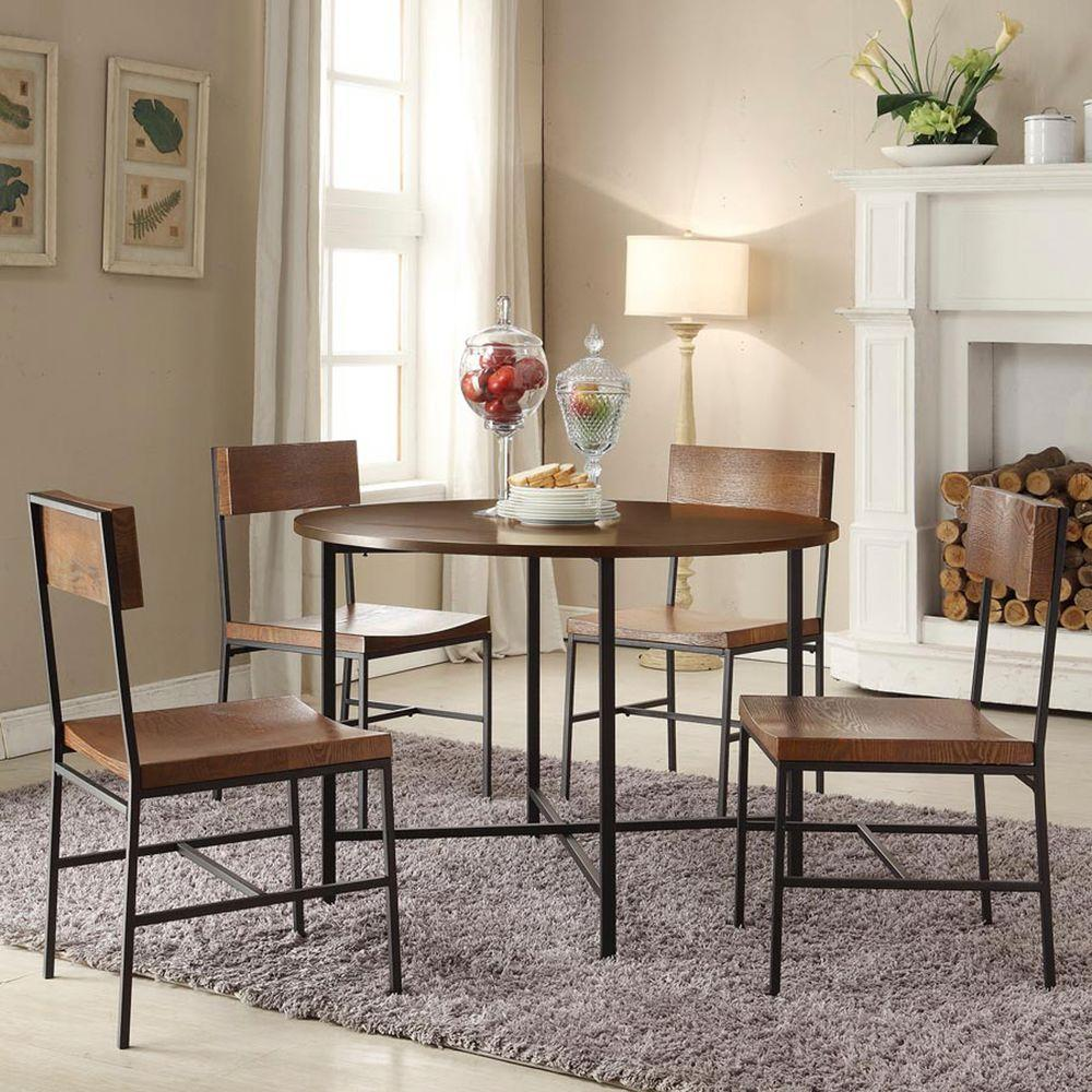 Carolina Cottage Berkshire 42 in. Chestnut Brown Round Dining Table