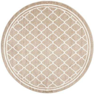 Round Beige Outdoor Rugs Rugs The Home Depot